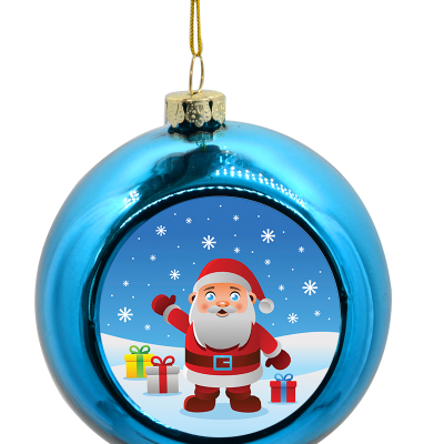 kerstbal blauw ontwerpen