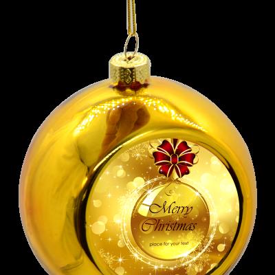 kerstbal ontwerpen goud