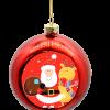 kerstballen met logo maken 4 stuks rood