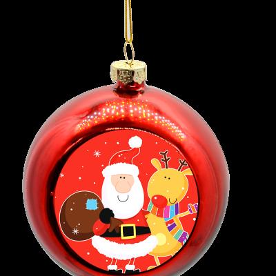 kerstbal rood ontwerpen