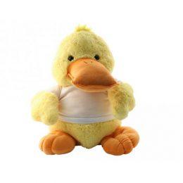 knuffel eend met naam of foto