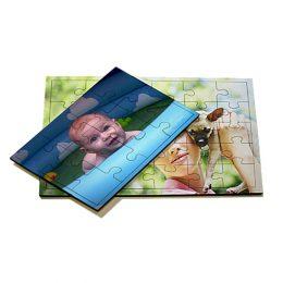 puzzel bedrukken met foto en tekst