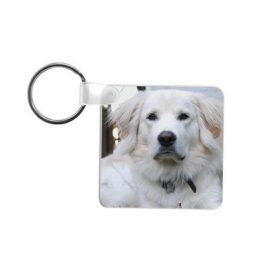vierkante sleutelhanger met foto