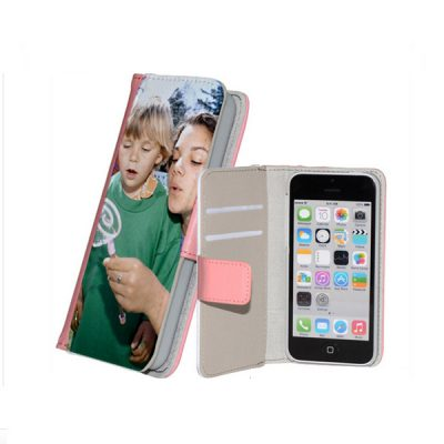 iphone 5c flipcase met foto roze