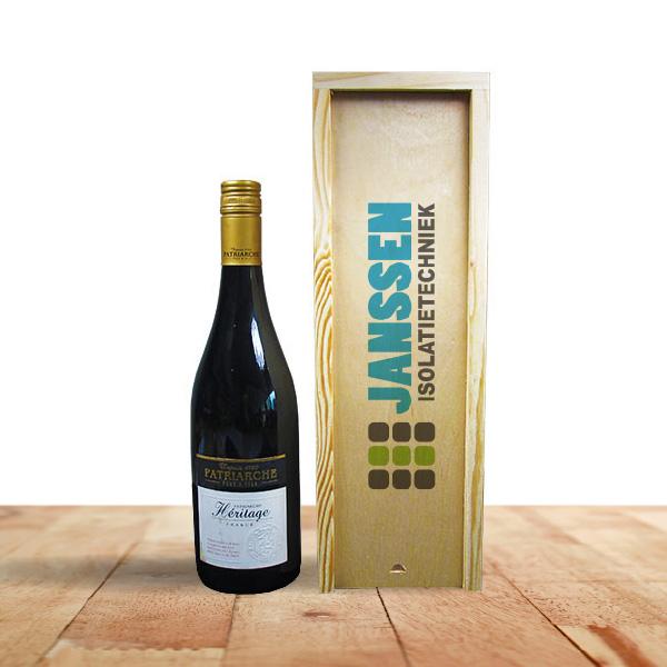 houten wijnkistje met logo