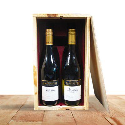 wijnkistje 2 vaks bedrukken