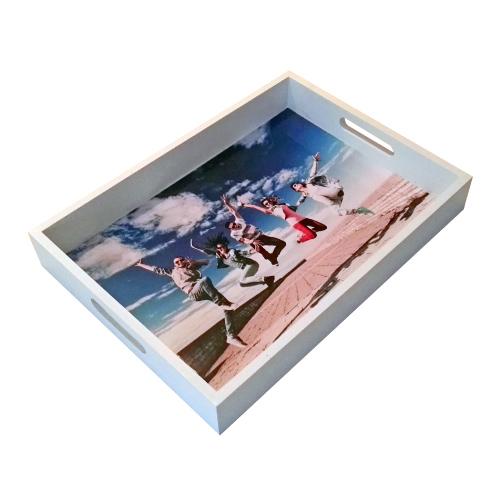 Dienblad bedrukken met eigen foto trendy white for Cadeau eigen huis