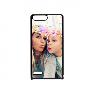 Huawei P7 mini telefoonhoesje hardcase zwart