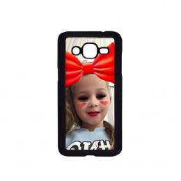 Samsung J2 2015 telefoonhoesje hardcase zwart