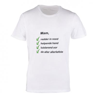 T-shirt polyester wit met eigen foto