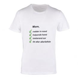 T-shirt wit moeder