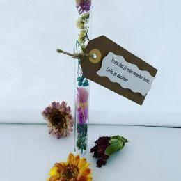 Gift tube flower droogbloemen